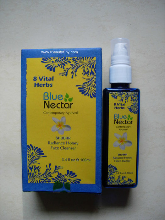 blue_nectar_honey_paraben_free_facial_cleanser_packaging