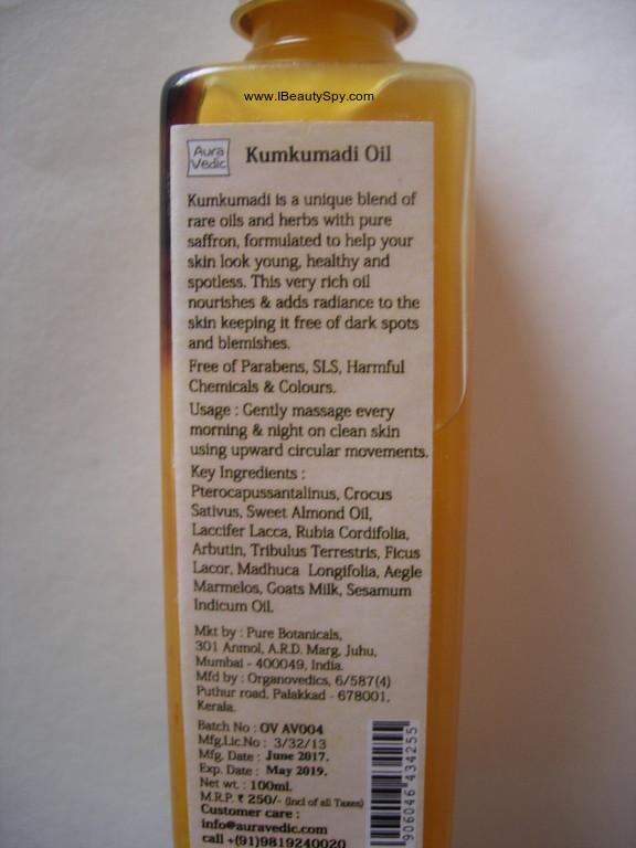 auravedic_kumkumadi_oil_ingredients